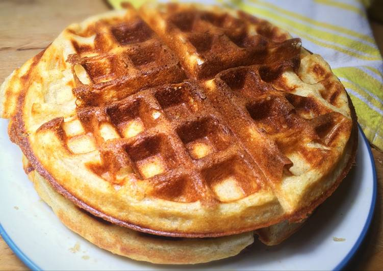 Simple Way to Make Perfect Sourdough Waffles