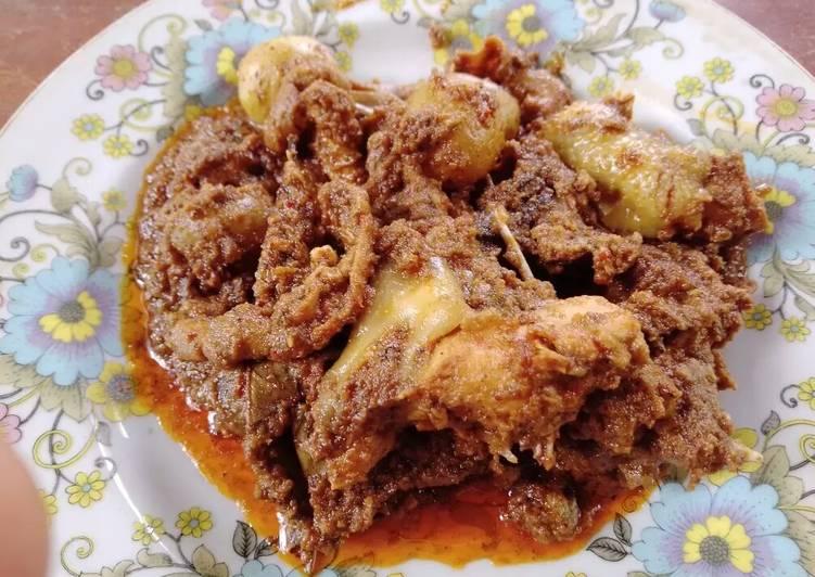 Rendang Ayam Kentang Lezat
