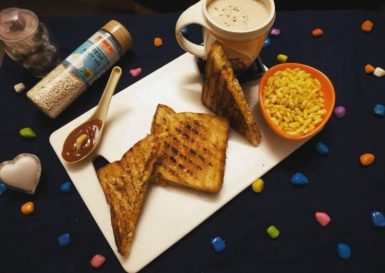 Mix Veg Mayo Sandwich Grill On Tava it by