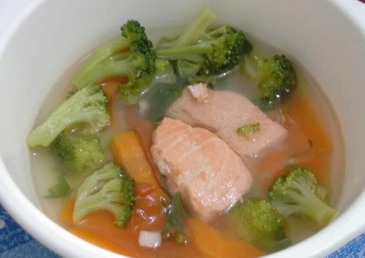 Resep Sup Salmon Untuk Anak Usia 1th Lebih Oleh Dapur Mama Aline