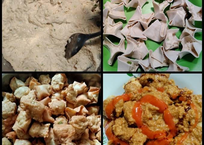 Batagor tanpa ikan/ayam + bumbu kacang