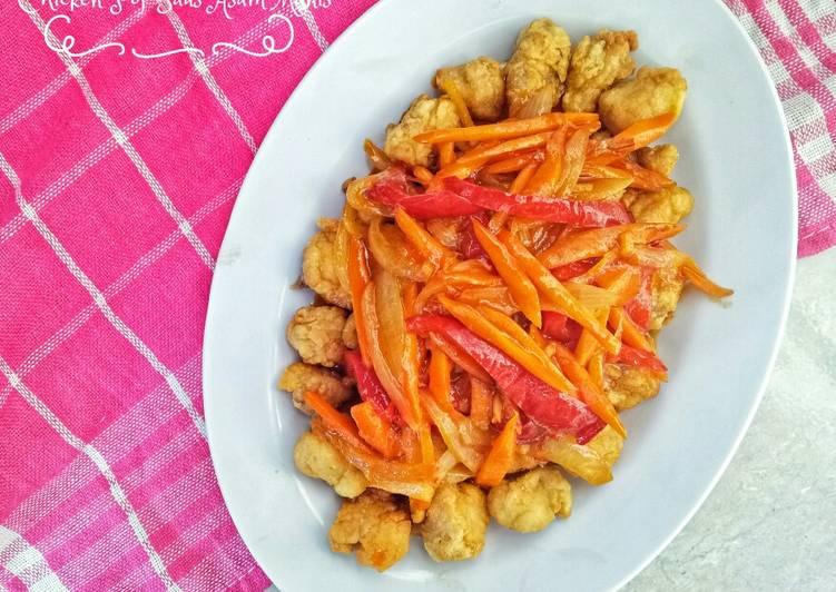 Chicken pop saus asam manis