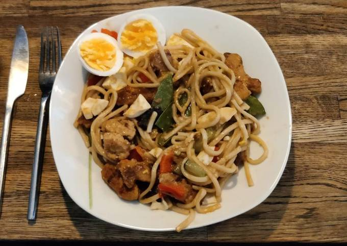 Sweet Udon Noodles with Soy Sauce