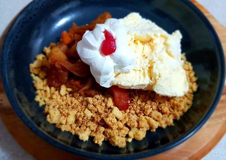 Step-by-Step Guide to Make Favorite Deconstructe apple crumble