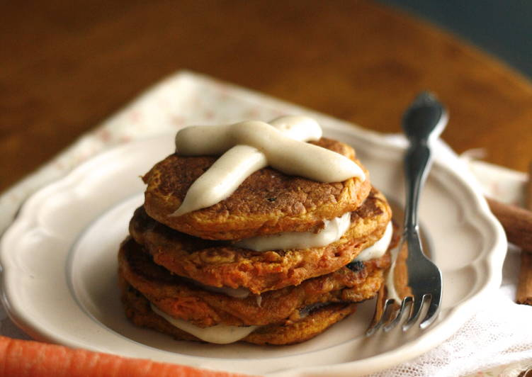 5 Minute Recipe of Any Night Of The Week Hot Cross Carrot Cake Pancakes