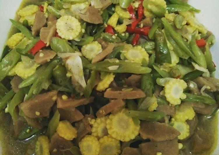 Resep Tumis jagung muda buncis bakso Yang Gampang Pasti Lezat