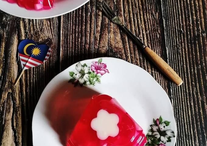 Agar-agar Cermin Bunga Raya