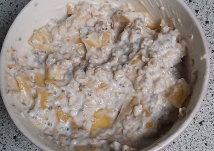 Porridge froid au yaourt