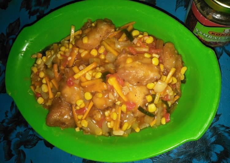 Langkah Mudah Membuat Koloke (ayam chrispy asam manis) Anti Gagal
