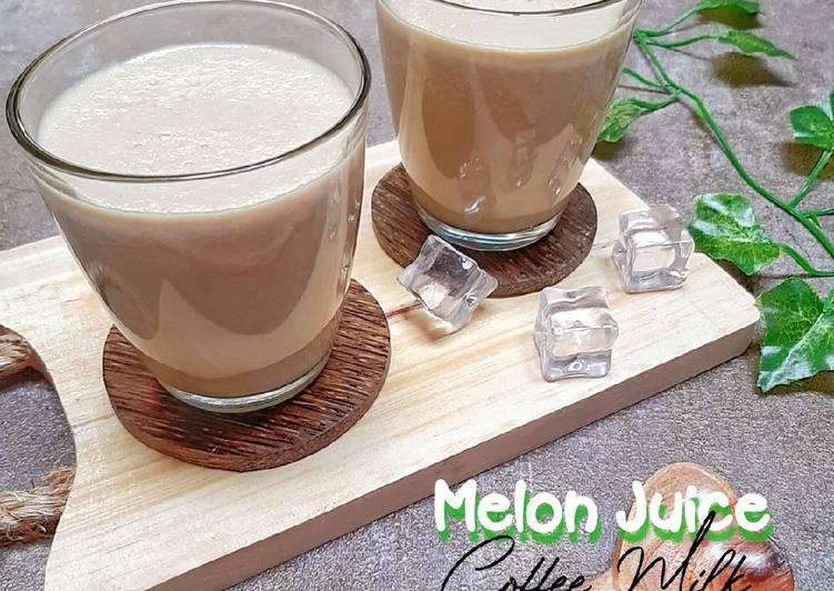 Melon Juice Coffe Milk