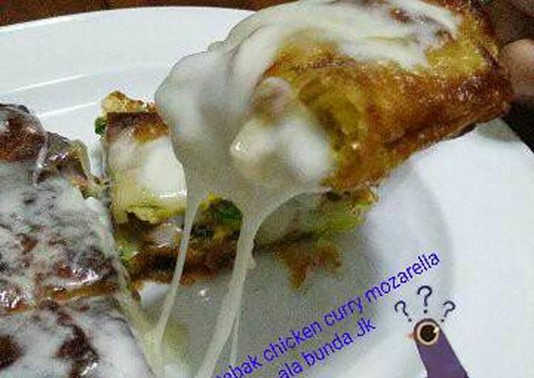 Martabak chicken curry mozarella ala bunda Jk