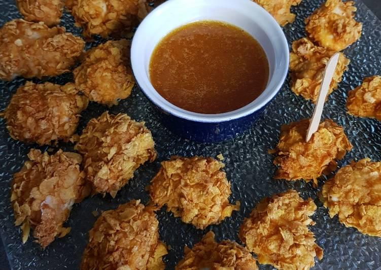 Recette: Parfait Nuggets de poulet corn flakes sauce abricot