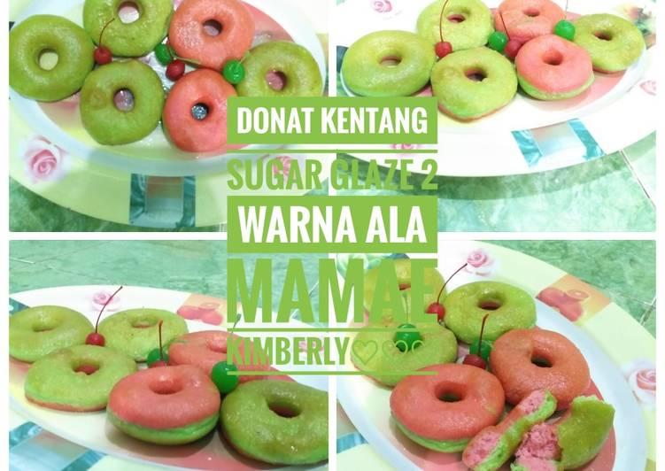 Donat Kentang Sugar Glaze 2 Warna