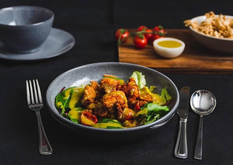 Spicy, Roasted Cauliflower_Tomato Salad