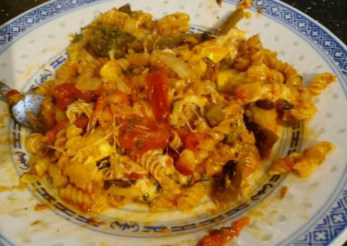 Recipe: Appetizing Roasted winter veg baked pasta