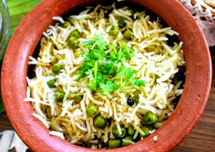 Selecting The Best Foods Can Help You Stay Fit As Well As Healthy Mutter Pulao or Green Peas rice