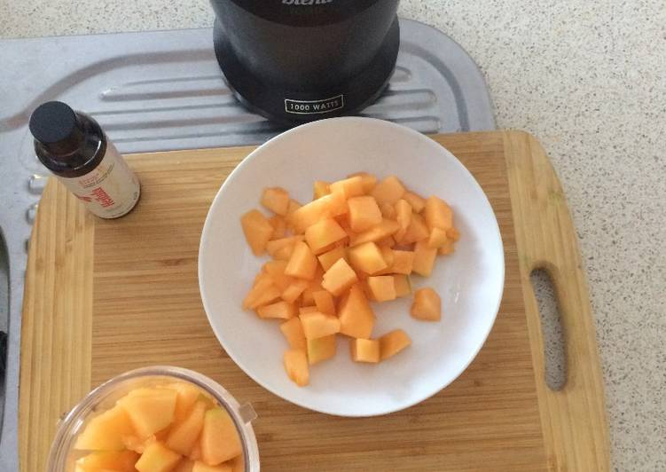 Yellow Melon Summer Soup For Kids