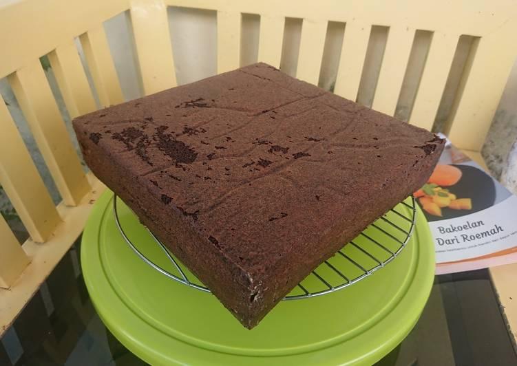 Brownies kukus(Basic kue ultah tanpa oven)