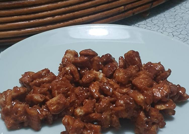 Bread Popcorn Caramel / Popcorn Roti Karamel (Pinggiran Roti)