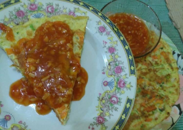 Menu Diet 8 (Fuyung Hai / Dadar telur Campur2) utk makan siang