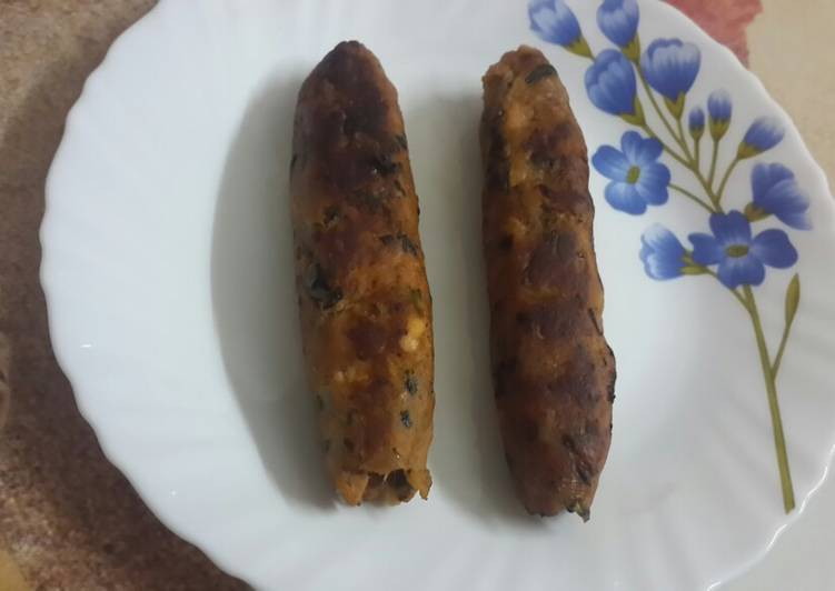 25 Minute Recipe of Cooking Chicken Seekh kabab