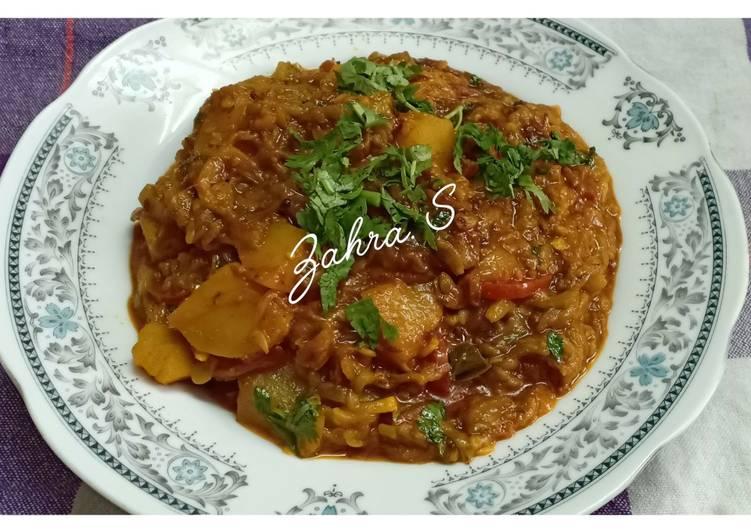 Recipe of Favorite Turai aloo ki sabzi