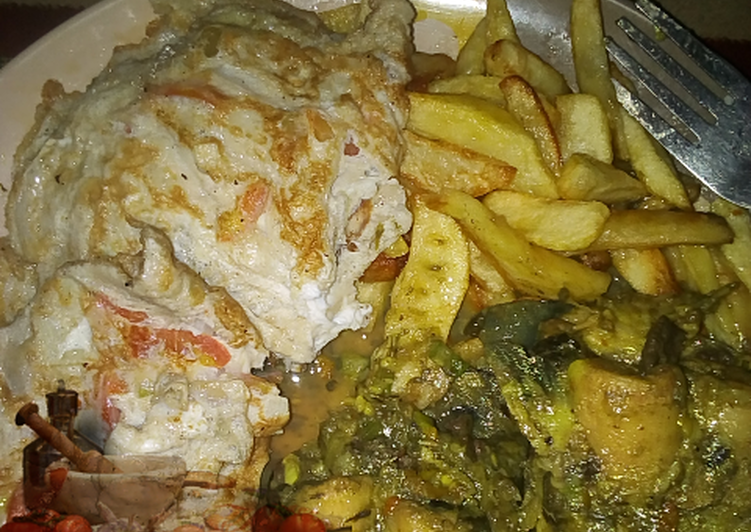 Recipe of Any-night-of-the-week Chips and egg with Cat Fish pepper soup