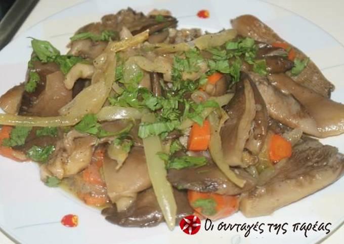 Pleurotus mushrooms in Muscat of Limnos
