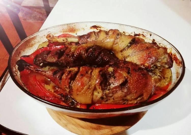Receta: Sabroso Pollo asado casero en salsa