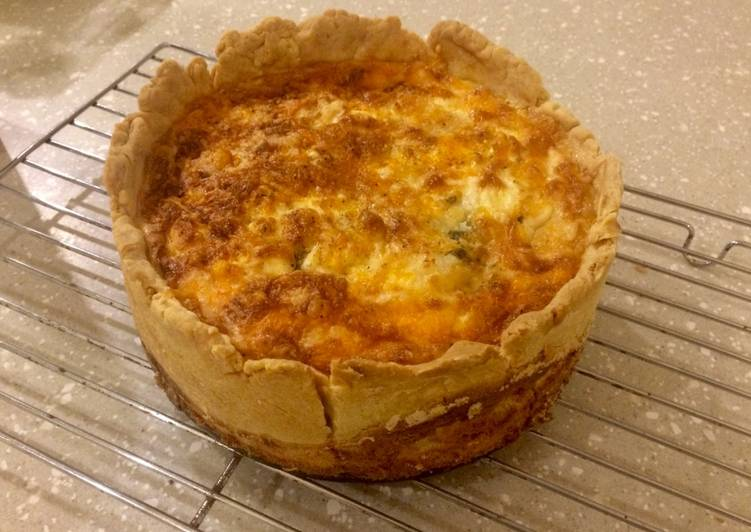 Four Cheese & Spinach Quiche