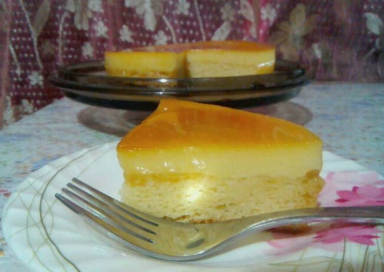 Custard Cake Using Pancake Mix