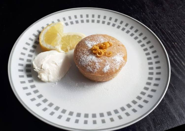 Easy Moist Lemon Curd Filled Muffins