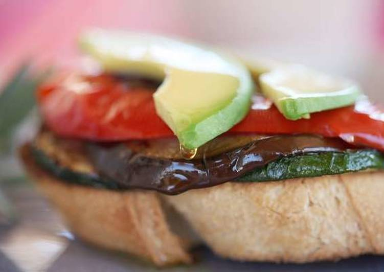 Old Fashioned Dinner Ideas Speedy Roasted vegetable open toasted sandwich
