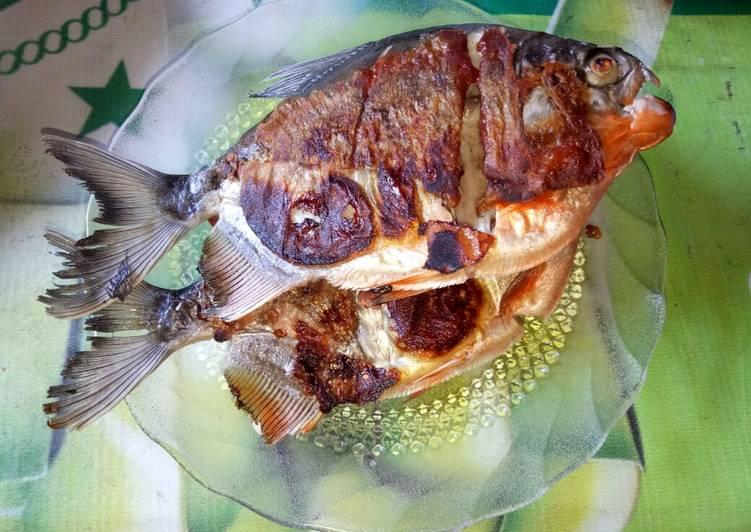 ikan bawal panggang sederhana foto resep utama