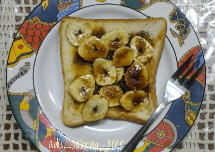 Roti pisang  panggang karamel #maree