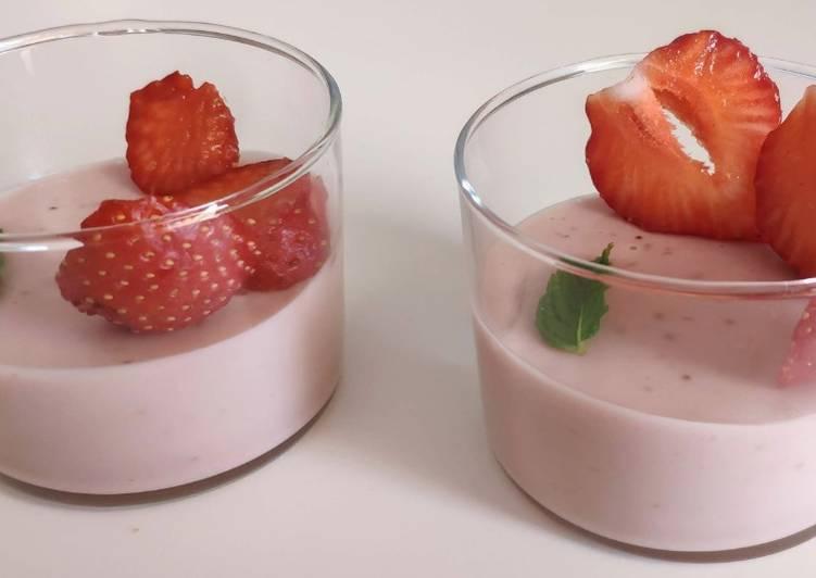 Panna cotta aux fraises (vegan)
