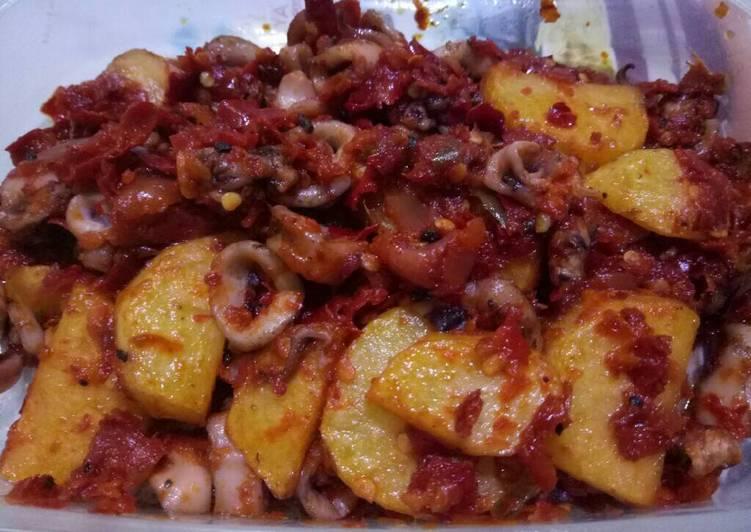 Sotong kentang sambal mercon