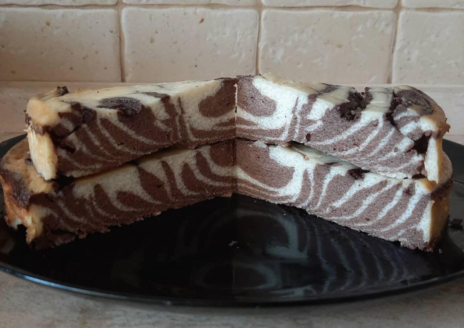 мраморный чизкейк зебра рецепт с фото
