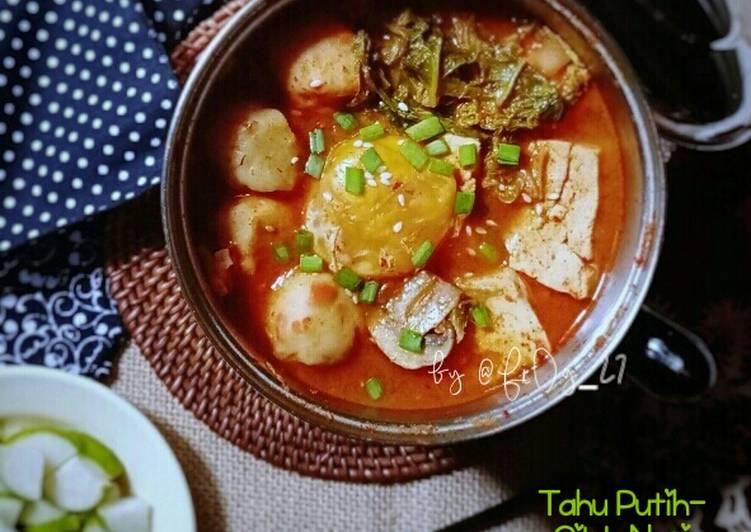 Sundubu Jjigae Cilok Nasi (Sup Tahu Pedas Ala Korea Indonesia)