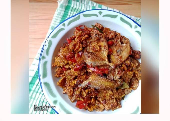 sambal goreng kering peksin (tempe+ikan asin) - resepenakbgt.com