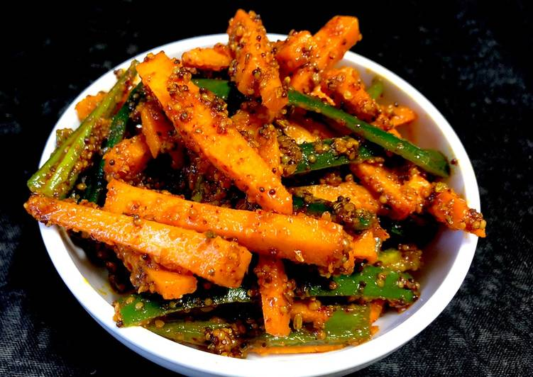 Recipe of Homemade Instant Carrot Pickle