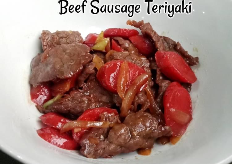 Beef Sausage Teriyaki