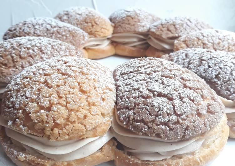 recette ☆Paris Brest Myrtilles et Marron☆ Le plus simple