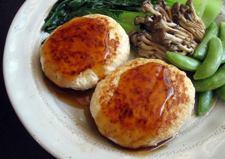 Healthy Chicken & Tofu Burgers