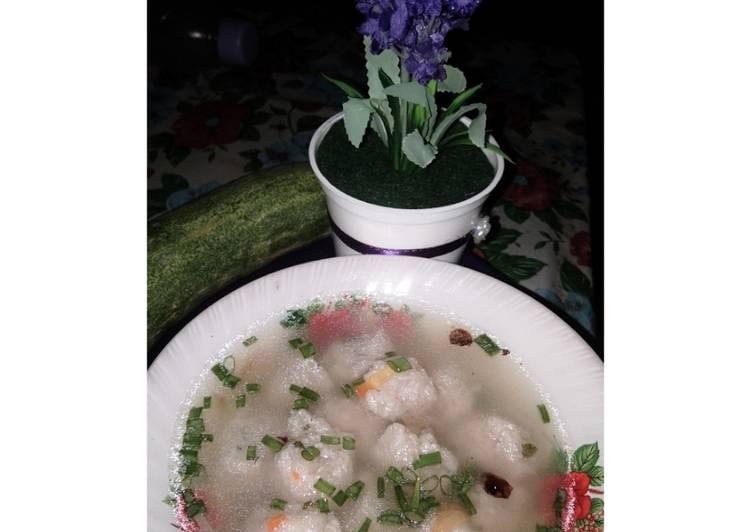 Sup Sate Kuah Ikan (Khas Pongok)