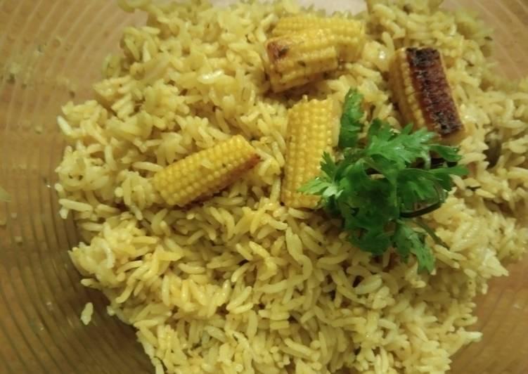 Simple Way to Make Quick BabyCorn Biryani Cooked in Pressure Cooker