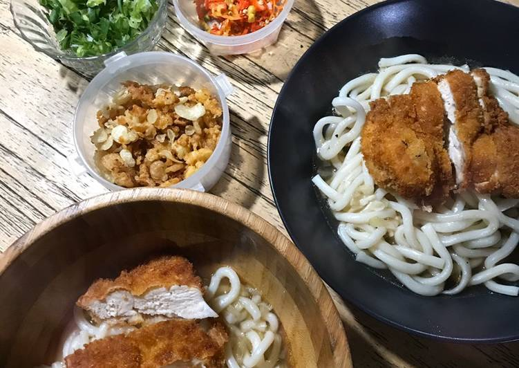 Chicken Katsu Udon ala Marugame Udon