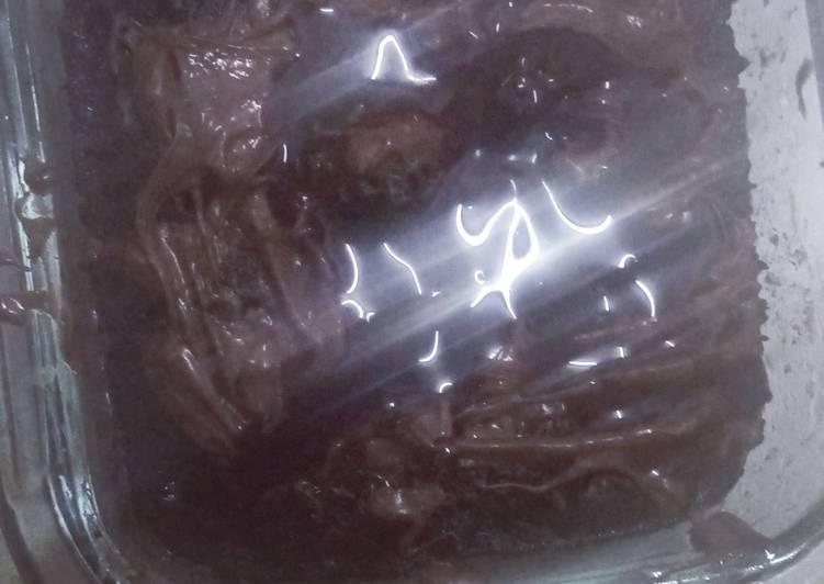 Chocolate fudge brownie in microwave 😋😋🤤🤤
