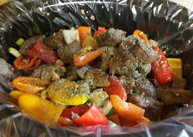 How to Make Yummy Beef tips with onions and sweet peppers