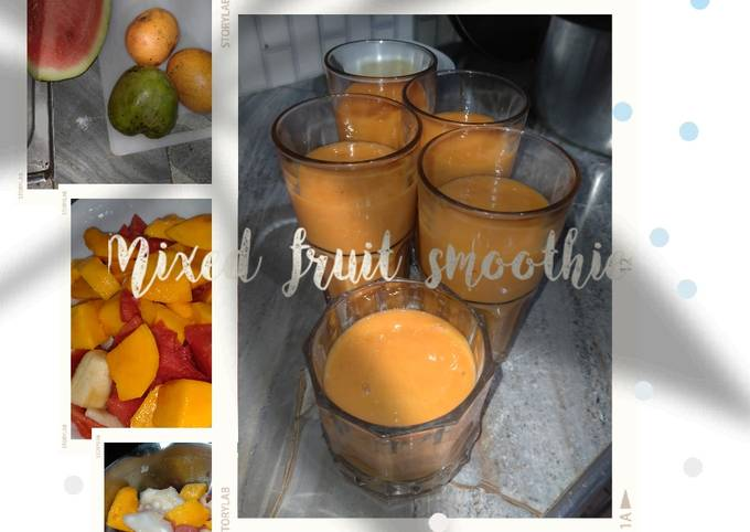 Simple Way to Prepare Heston Blumenthal Mixed fruit smoothie